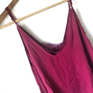 Intimately Free People Raspberry Cali with Lace
